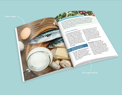 Health book layout concept