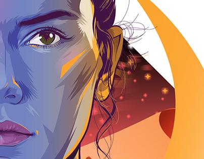 Star Wars Ep 7 Vector Portraits - Rey, Finn, Poe
