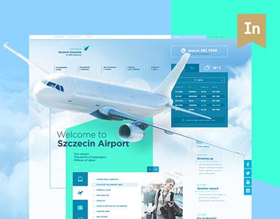 Szczecin Airport | website concept
