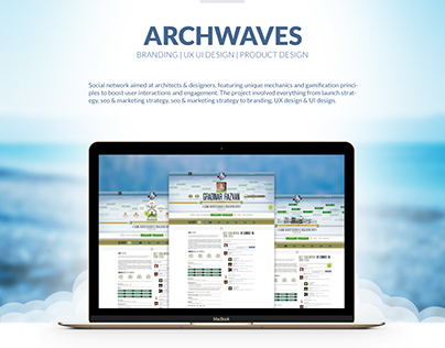 Archwaves - social network | UX UI design