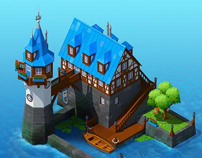 Fachwerk in Sea Game Design