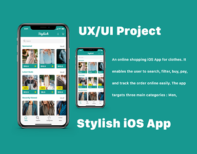 UX/UI Project - iOS App - Stylish Online Shopping