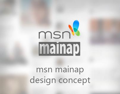 msn mainap - design concept