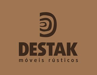 Destak Móveis Rústicos - Visual Identity