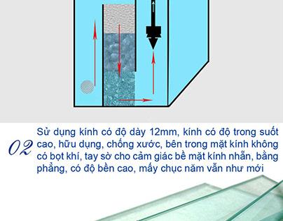 Bể cá trong nhà cực đẹp tại nonbo.net.vn