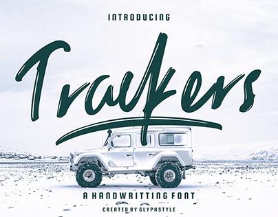 FREE | Trackers Handwritten Brush Font