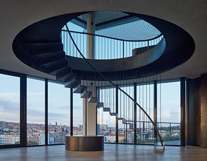 Regula Penthouse in Prague by petrjanda/brainwork