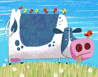 Cow color sketch