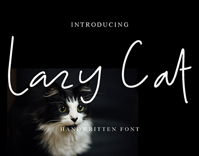 Lazy Cat handwritten font made by #fontself