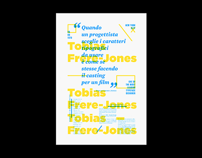 Tobias Frere-Jones / Typographic Poster