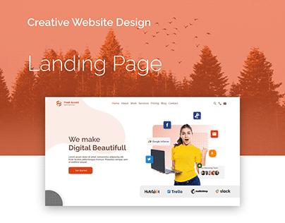 Fresh Accent Website Design