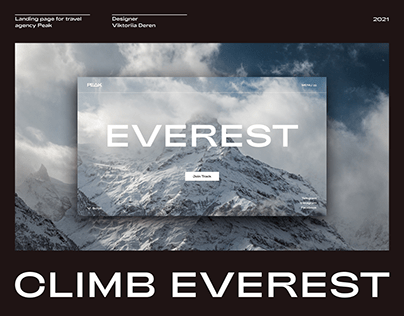 Travel Agency Landing Page | Climb Everest