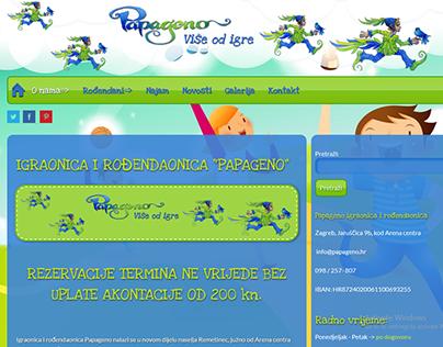 Izrada web stranice za igraonicu &rođendaonicu Papageno