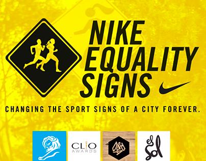NIKE EQUALITY SIGNS
