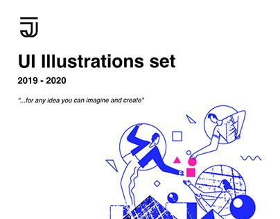 UI illustrations 2019-2020