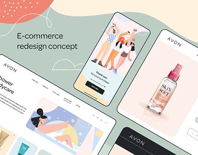 E-commerce redesign concept