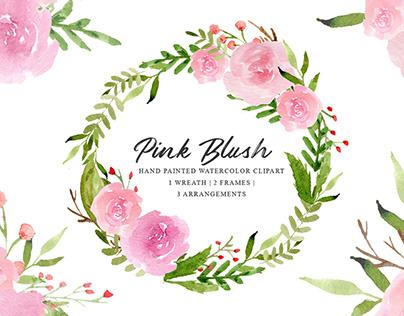 Free Pink Blush Watercolor Cliparts
