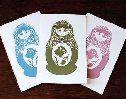 Russian Doll greeting cards