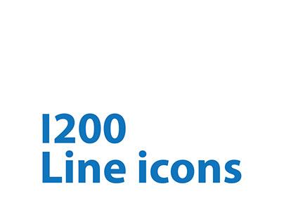 1200 Line icons