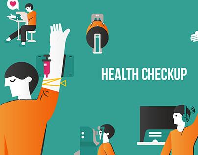 Illustration work for healthcheckup