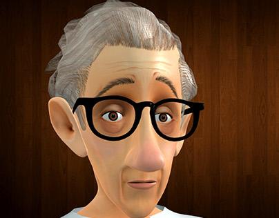 3D modeling of Woody Allen
