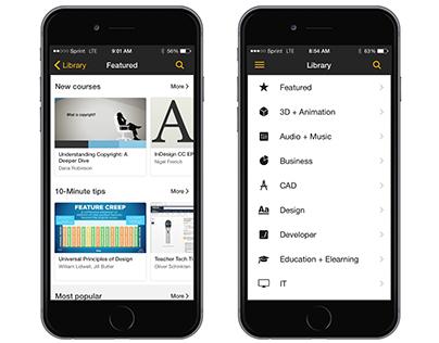 lynda.com: Mobile App