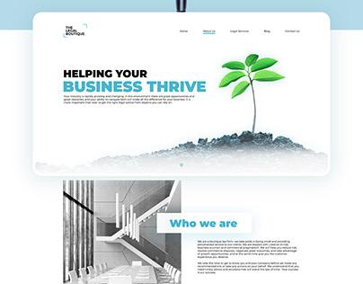 Legal Boutique landing page