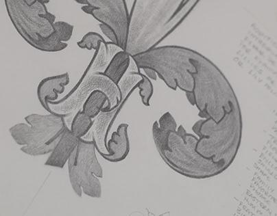 Monogram Fleur de Lis