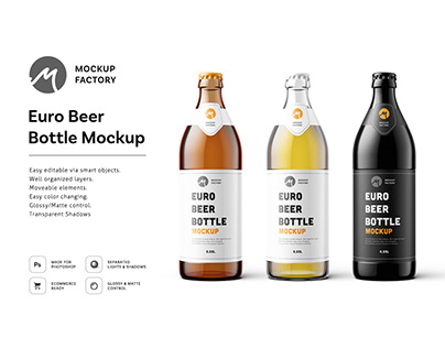 Euro Beer Bottle Mockup