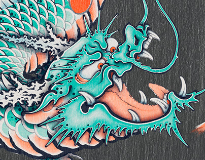 Digi-UKIYOE dragon