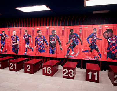 FC BARCELONA STADIUM Locker room