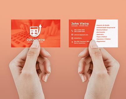 Cartão de visita para contadores(as).