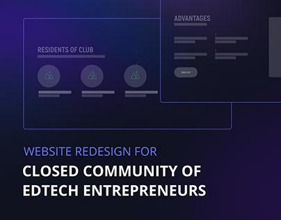 Website redesign for community of EdTeach entrepreneurs