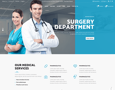 Professional Medical one page website