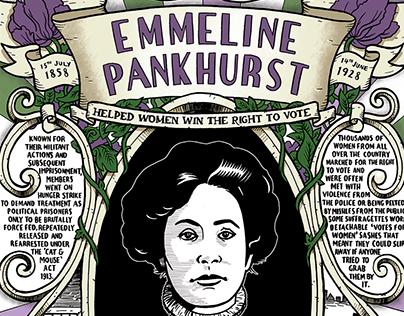 Emmeline Pankhurst poster
