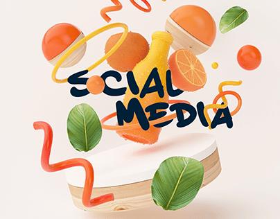 Al Masa Juice social media designs 👩🏻💻🍊🍎🍉🍌