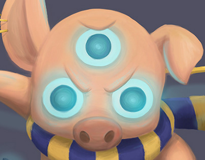 Monk pig