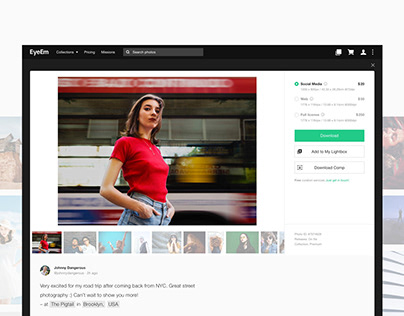 EyeEm - Buyers profiles photoview concept