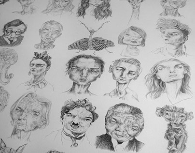"Illustration ""1000 visages"""