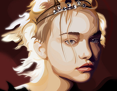 Gemma Ward - Vector portrait