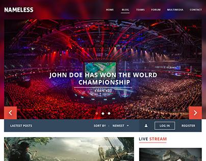 Esport Website Design