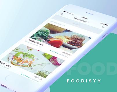 FOODISYY iOS App Design
