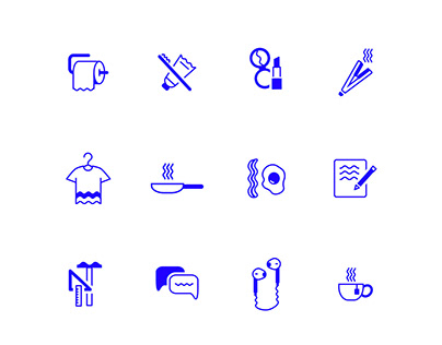 Daily Routine in Icons