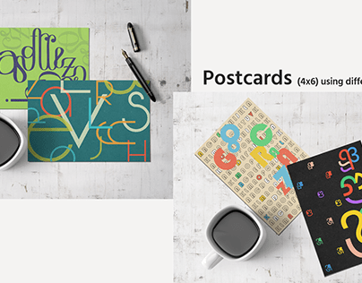 Postcards and stickers