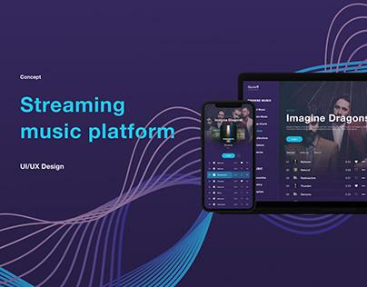 Web Design Streaming Music Platform