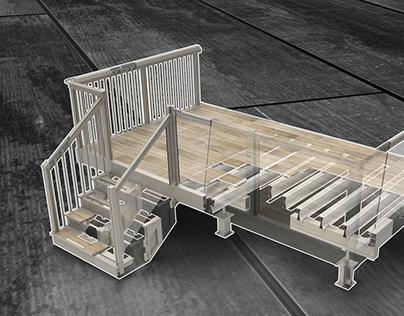 Système de patio en aluminium