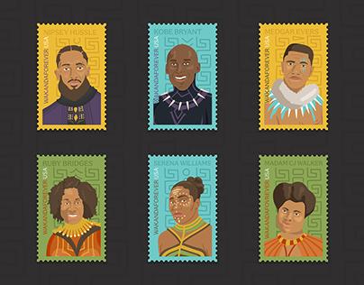 Black Figures Stamps