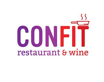 Logo CONFIT restaurant & wine