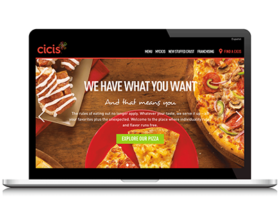 Cicis.com Website Design