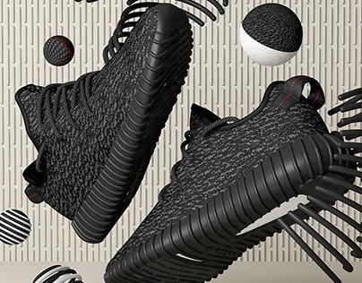 Adidas Yeezy Boost // CG Visuals